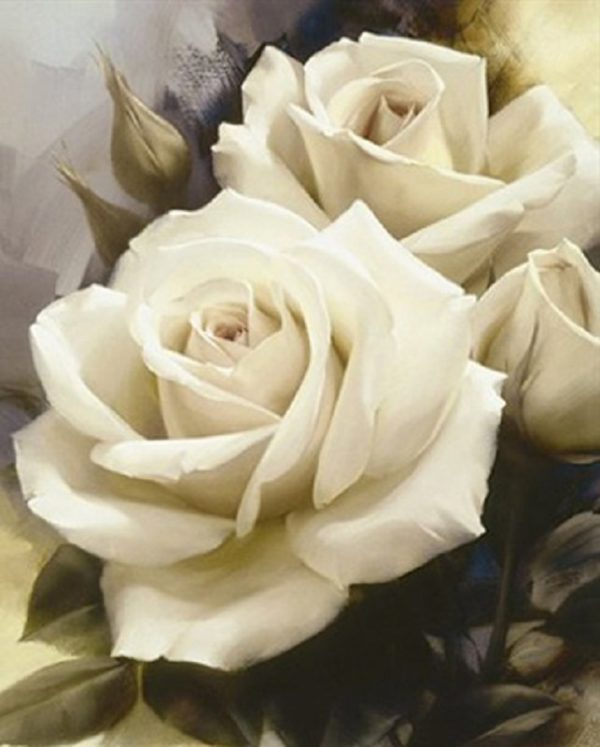 купить алмазную вышивку цветы розы, Украина Чарівний діамант