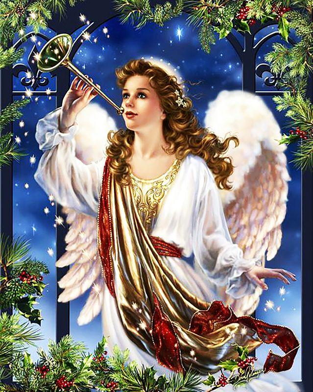 """набор алмазной вышивки """"Ангел-вестник счастья"""""""