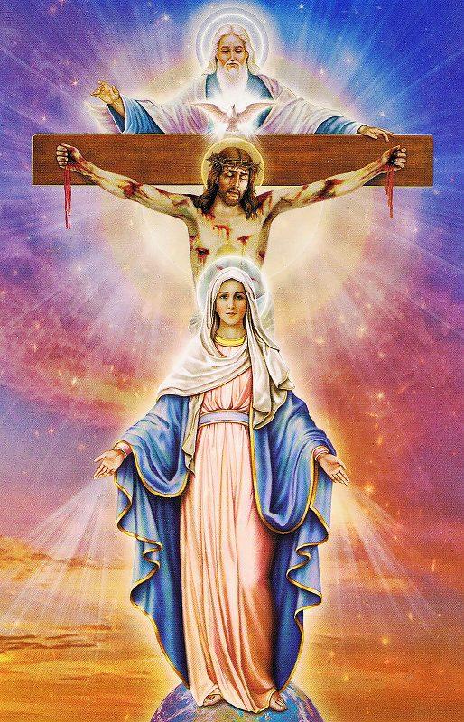 """Набор алмазной вышивки икона """"Богородица Медитация всех милостей"""""""