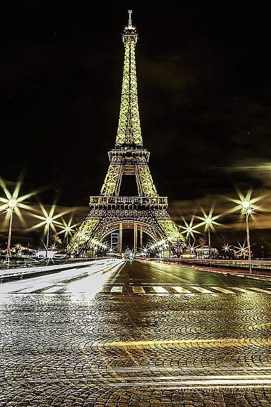 """Набор алмазной вышивки """"Огни Парижа"""""""