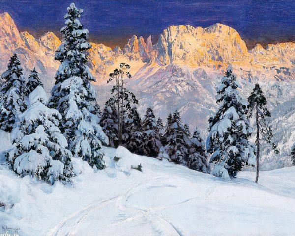 """Набор алмазной вышивки """"Зимний пейзаж в горах"""""""