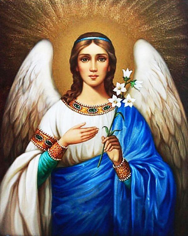 """Набор алмазной вышивки икона """"Ангел Хранитель"""""""