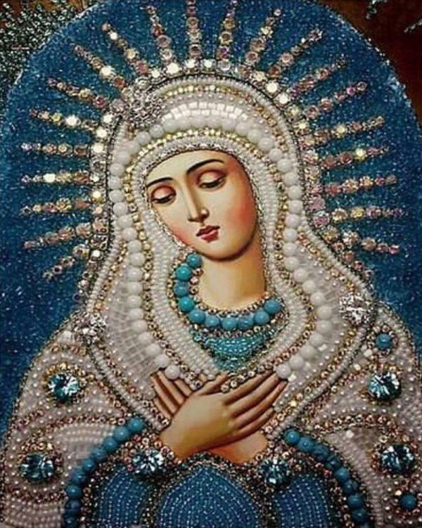 """Набор алмазной вышивки икона """"Богородица Умиление"""""""