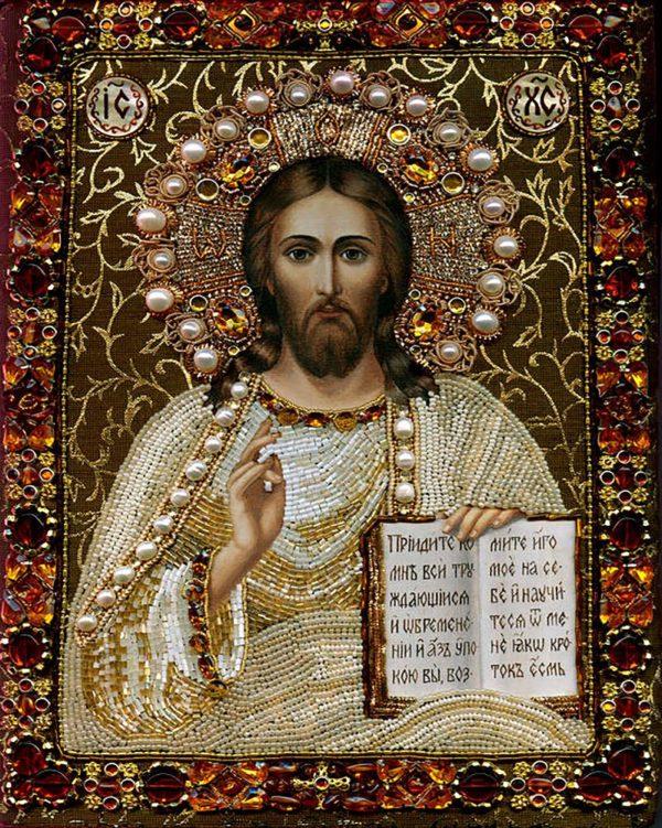 """Набор алмазной вышивки икона """"Иисус Христос"""""""