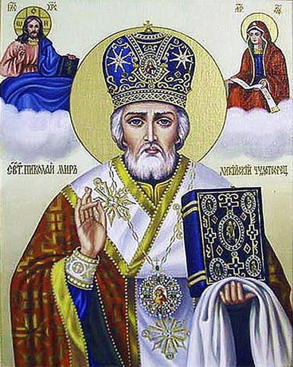 """Набор алмазной вышивки икона """"Святой Николай Чудотворец"""""""