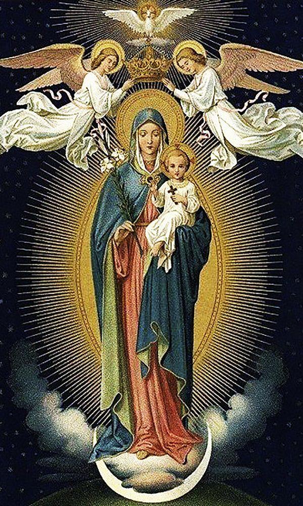 """Набор алмазной вышивки икона """"Богородица Царица всех Святых"""""""