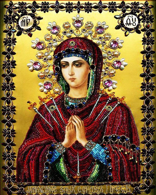 """Набор алмазной вышивки икона """"Богородица Умягчение Злых Сердец"""""""