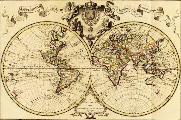 """Набор алмазной вышивки """"Старинная карта мира"""""""