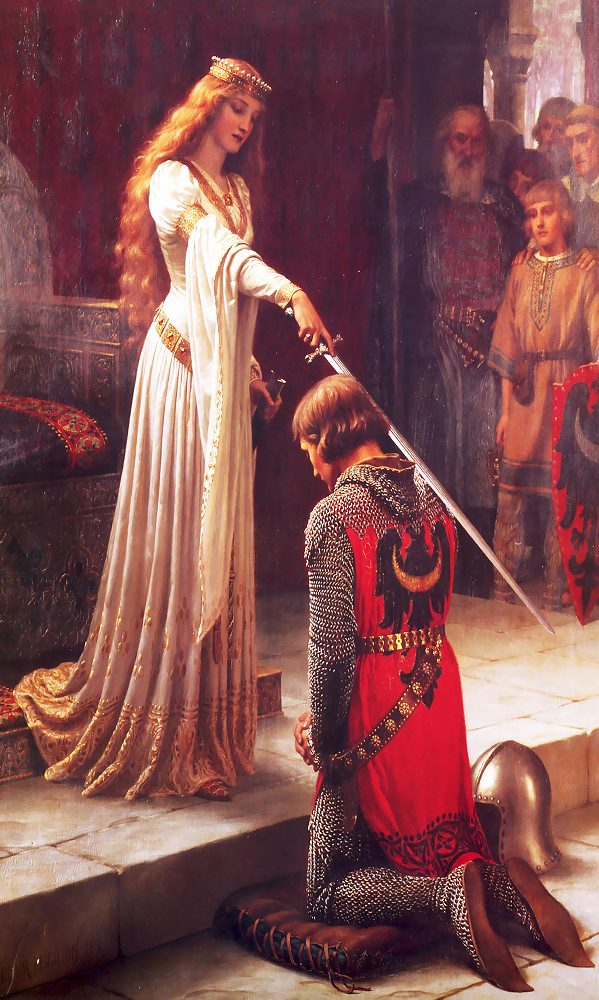 """Набор алмазной вышивки """"Любовь рыцаря. У ее ног..."""""""