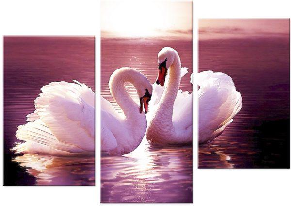 """Набор алмазной вышивки """"Пара прекрасных лебедей"""""""