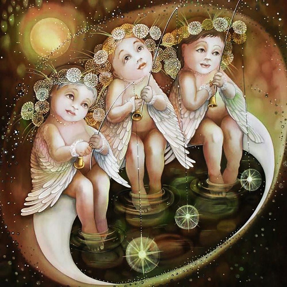 """Набор алмазной вышивки """"Три милых Ангела-2"""""""