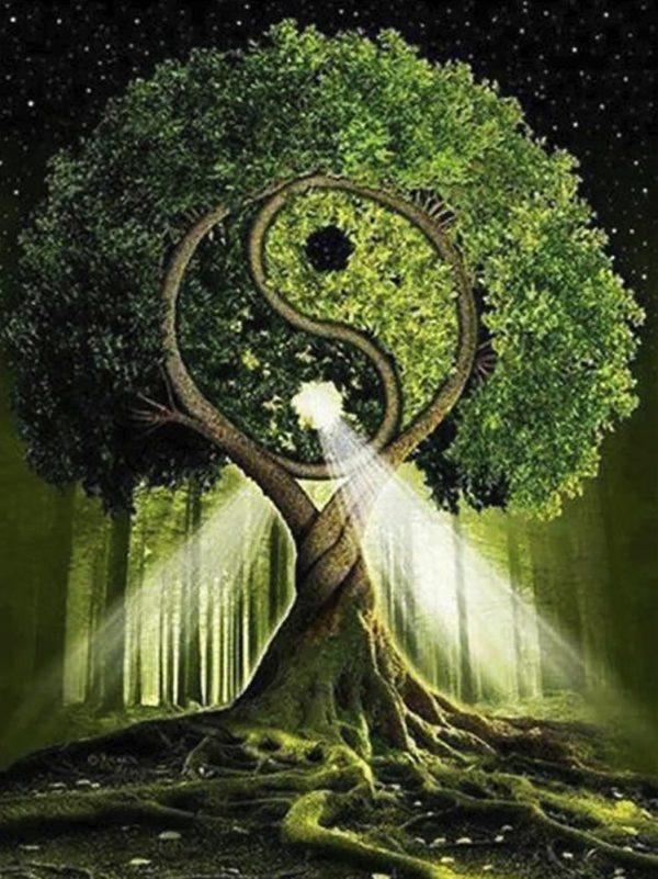 """Набор алмазной вышивки """"Дерево жизни - Инь и Янь"""""""