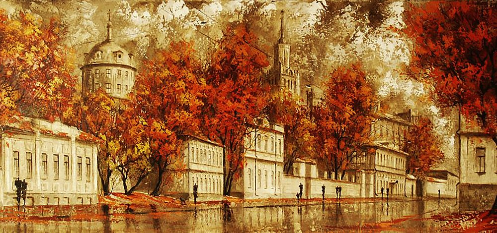 """Набор алмазной вышивки (мозаики) """"Осень в городе"""""""