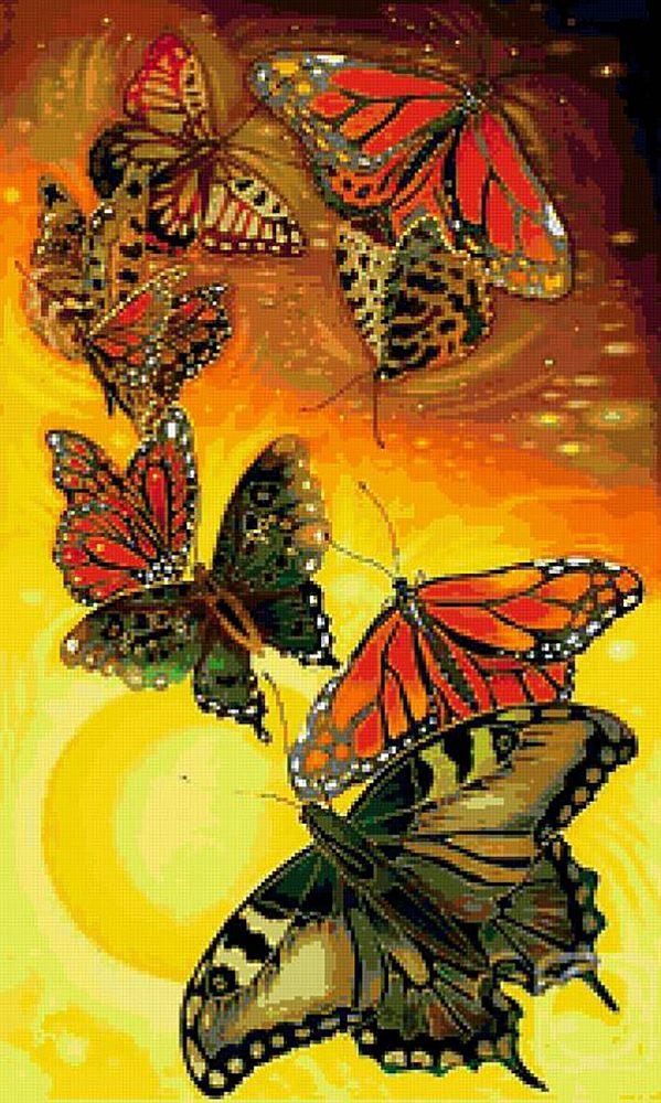 набор алмазной вышивки Полет бабочек