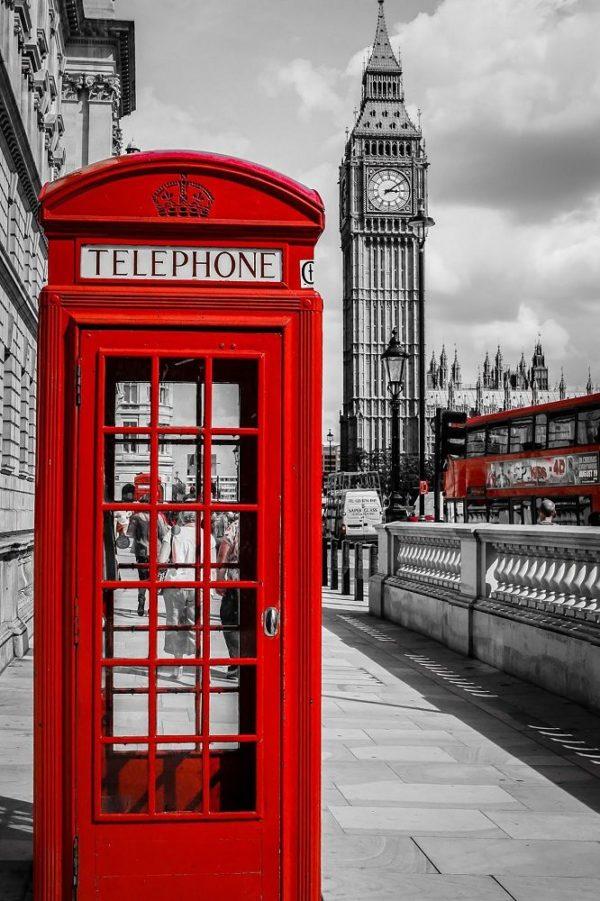 """Набор алмазной вышивки """"Черно-белый Лондон. Телефон"""""""