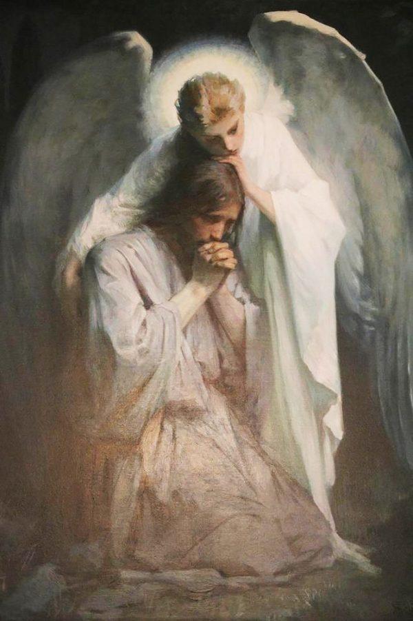"""Набор алмазной вышивки """"Иисус и Ангел"""""""