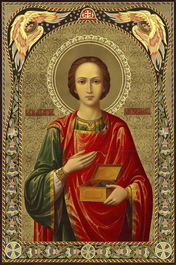 """Набор алмазной вышивки икона """"Святой Пантелеймон"""""""