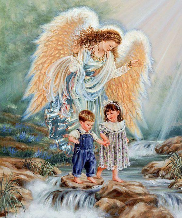 """Набор алмазной вышивки """"Ангел - детей Хранитель"""""""