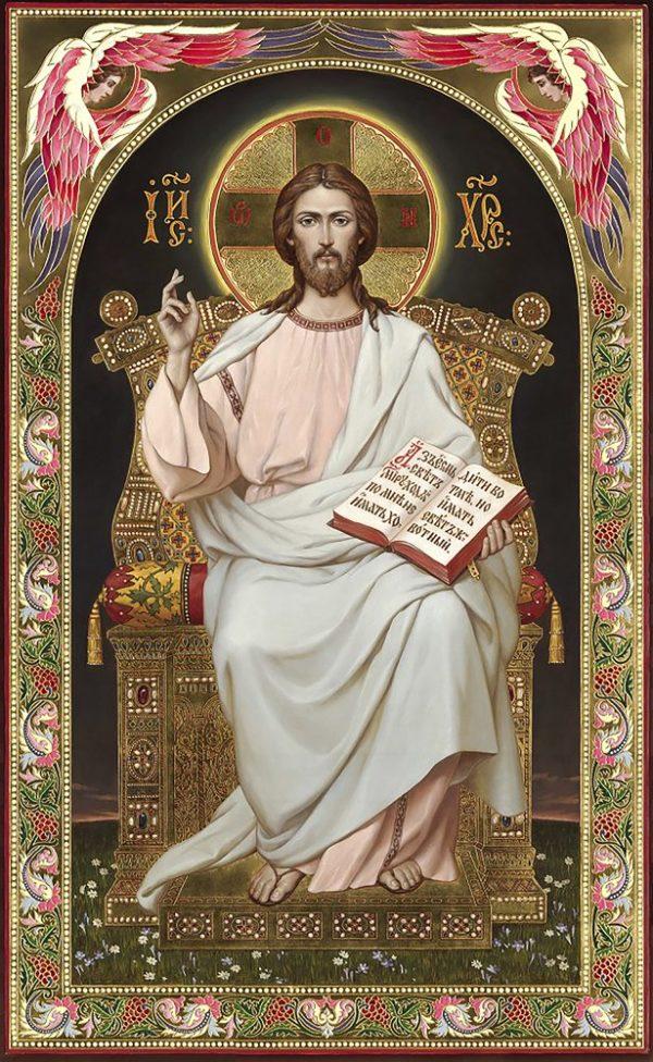 """Набор алмазной вышивки икона """"Иисус на престоле"""""""
