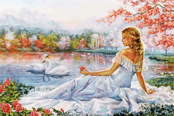 """Набор алмазной вышивки """"Мечты у озера"""""""