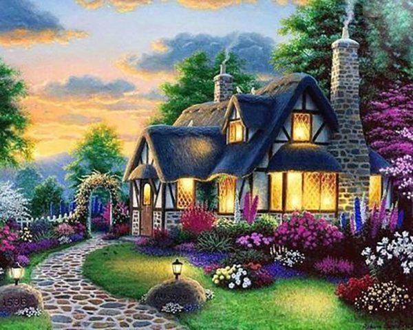 """Набор алмазной вышивки """"Дом мечты - Сказочное цветение"""""""