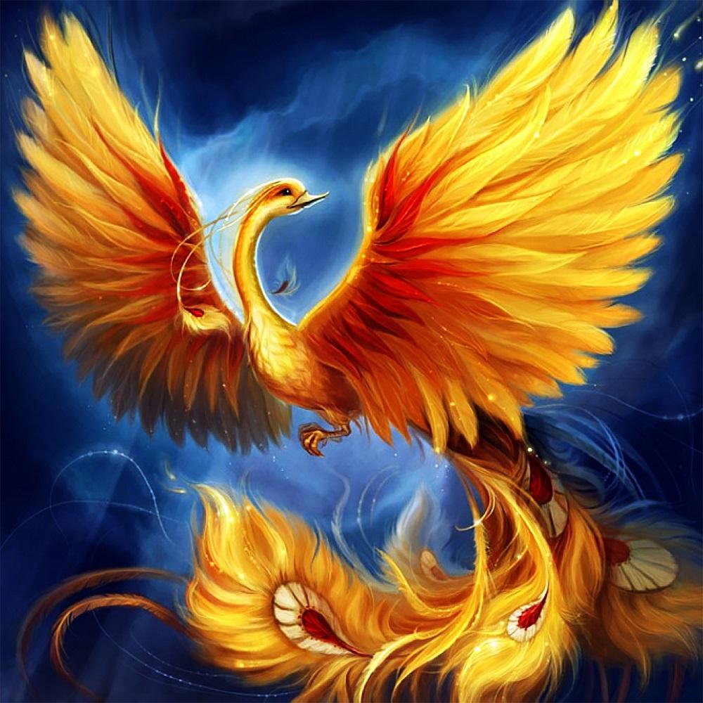 "Набор для рисования картин по номерам (раскраска) ""Птица Феникс - Символ возрождения"" - Чарівний діамант"