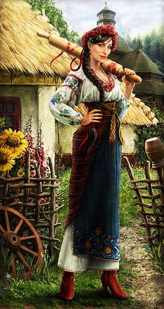"""Набор алмазной вышивки """"Украинка - Красивая и гордая"""""""