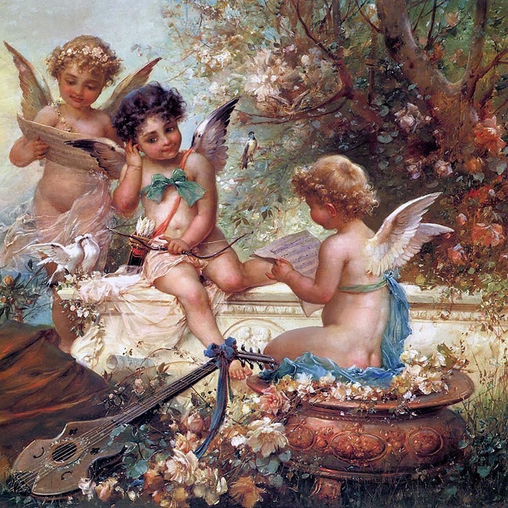 """Набор для рисования картин по номерам """"Три милых ангела"""" - Чарівний діамант"""