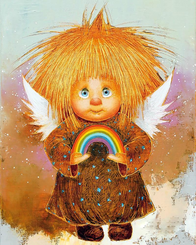 "Набор для рисования картин по номерам ""Рыжий Ангел - Радуга счастья"" - Чарівний діамант"