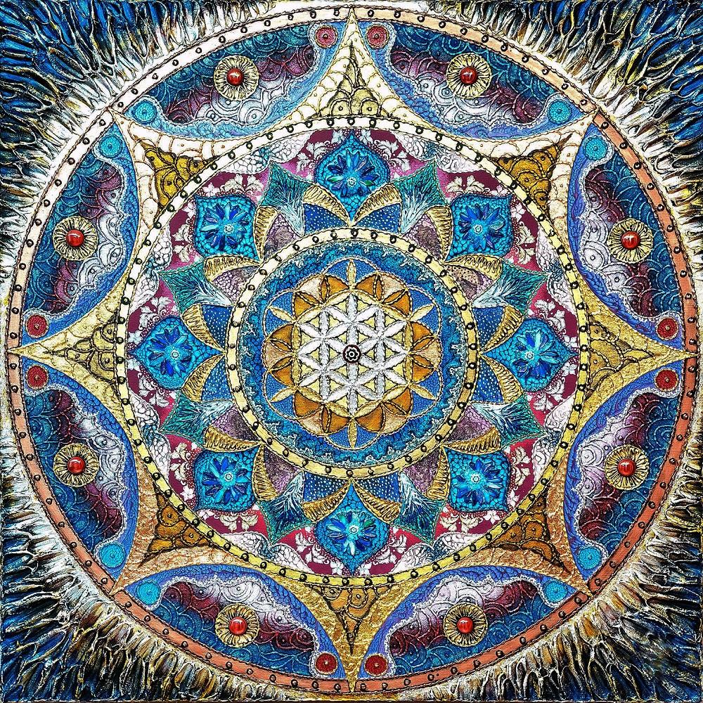 "Набор для рисования картин по номерам ""Мандала - Раскрытия любви"" - Чарівний діамант"