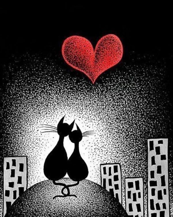 """Набор алмазной вышивки """"Любовь в ночном городе"""""""