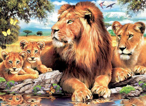"""Набор алмазной вышивки """"Львы - Крепкая семья"""""""