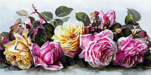 """Набор алмазной вышивки """"Симфония роз"""""""