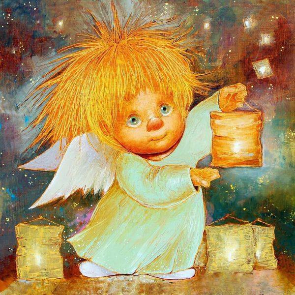 """Набор алмазной вышивки """"Ангел - дарящий свет"""""""