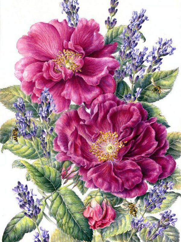 """Набор алмазной вышивки """"Чайные розы"""""""