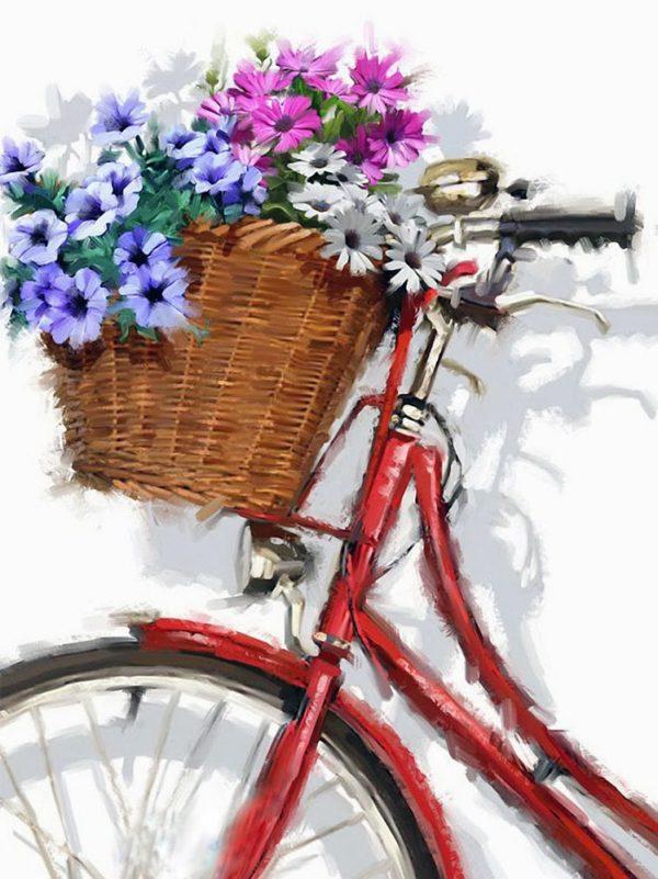 """Набор алмазной вышивки """"Цветочный велосипед"""""""