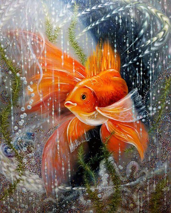 """Набор алмазной вышивки """"Золотая рыбка - Загадай желание!"""""""