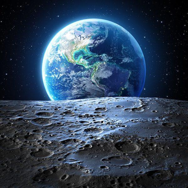 """Набор алмазной вышивки """"Земля и луна"""""""