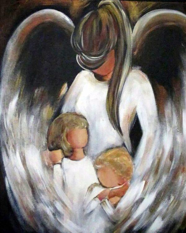 """Набор алмазной вышивки """"Ангел Хранитель - Мама"""""""