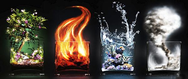 """Набор алмазной вышивки """"Четыре стихии - Земля, Огонь, Воздух, Вода"""""""