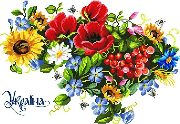 """Набор алмазной вышивки """"Цветочная карта Украины"""""""