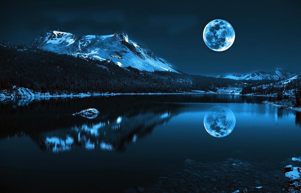 """Набор алмазной вышивки """"Лунная ночь в горах"""""""