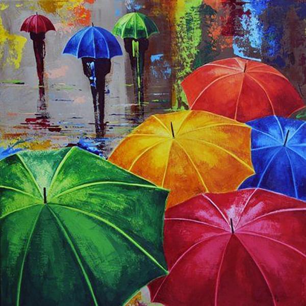 """Набор для рисования картин по номерам """"Веселые зонтики"""""""