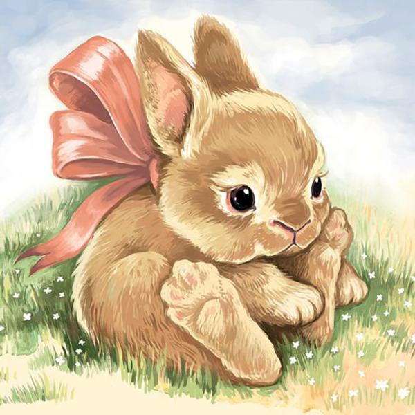 """Набор для рисования картин по номерам """"Маленький кролик"""""""