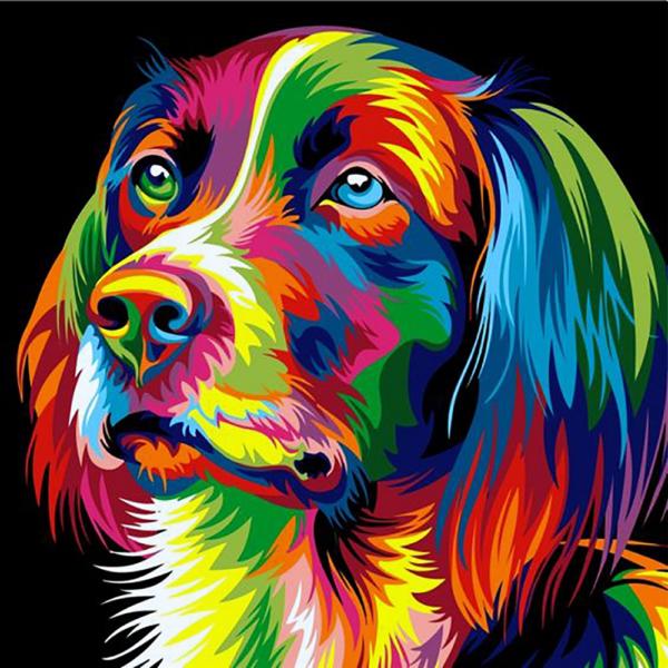"""Набор для рисования картин по номерам """"Радужный собака"""""""